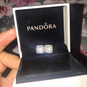 Pandora Stud Post Diamond (cubic zircona) earrings